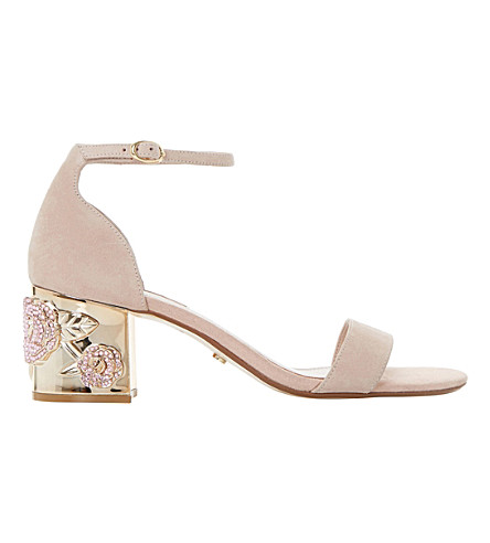 b7898a620209 DUNE Maygo suede embellished sandals (Blush-suede