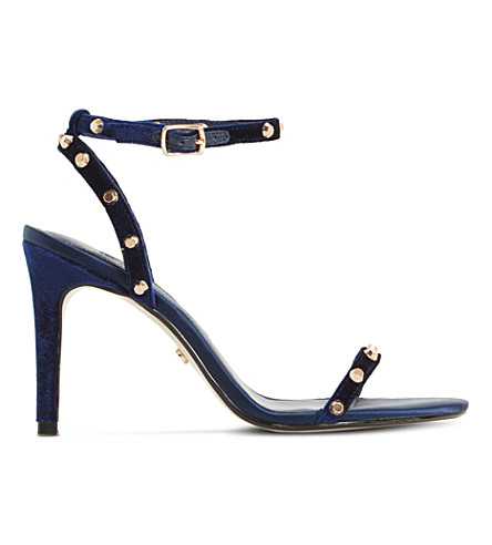 DUNE Macintosh studded sandals (Navy-velvet