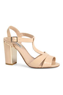 DUNE Humble T-bar patent sandals