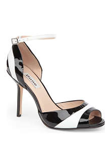 DUNE Harlequin patent leather sandals