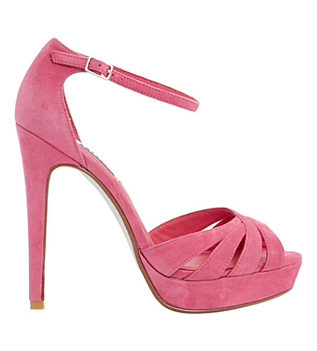 DUNE Miko suede platform sandals (Pink-suede