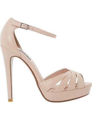 DUNE Miko glitter sole platform sandals
