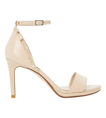 DUNE Missie studded mid-heel sandals (Nude-leather