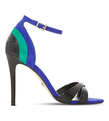DUNE Marcy suede sandals (Blue-suede