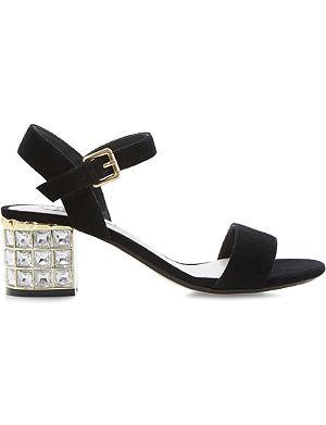 DUNE Harah jewelled block heel sandal
