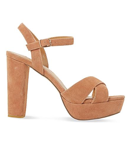 DUNE Mexico suede platform sandals (Tan-suede