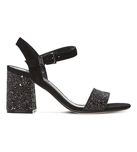 DUNE Mylow glitter sandals (Black-glitter