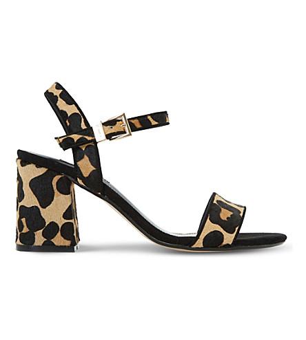 DUNE Mylow leopard-print sandals (Leopard-pony