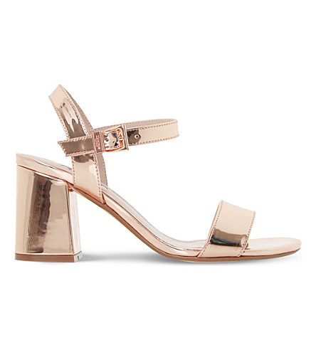 DUNE Mylow metallic sandals (Rose+gold-metallic