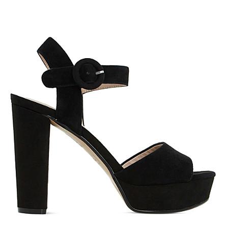 DUNE Monacco suede platform sandals (Black-suede
