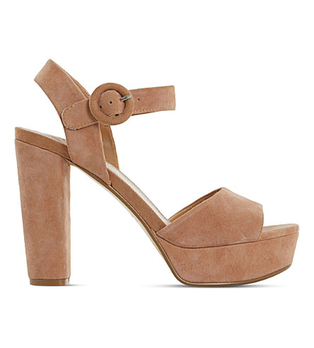 DUNE Monacco suede platform sandals (Tan-suede