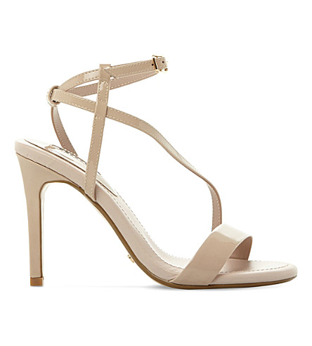 DUNE Misses patent leather sandals (Nude-patent