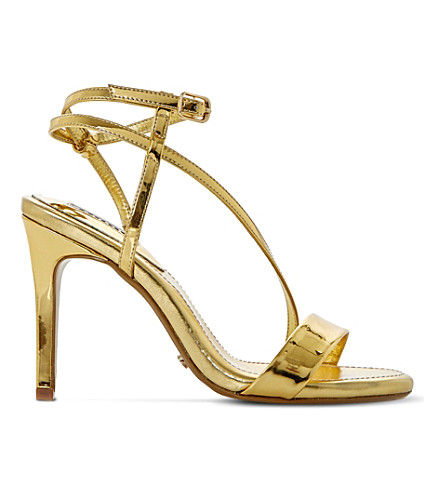 DUNE Misses asymmetric sandals (Gold-metalic