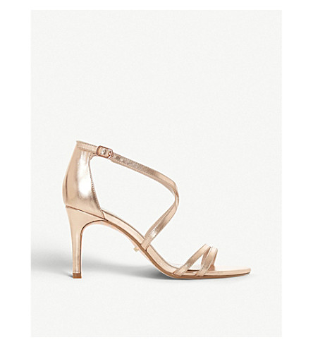 DUNE Mariela metallic heeled sandals (Pewter-synthetic