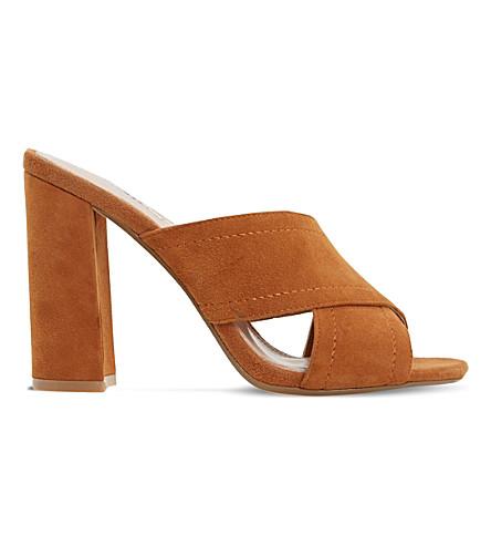 DUNE Maxi suede mule sandals (Tan-suede