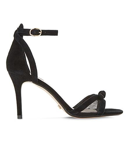 DUNE Blume suede mesh insert heels (Black-suede