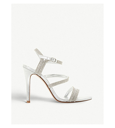 DUNE Madona leather high heels (Silver-leather