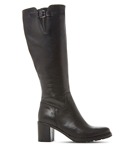 DUNE Todd cleated-sole leather boots (Black-leather