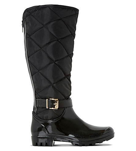 DUNE Thunder quilted wellington boots (Black-synthetic