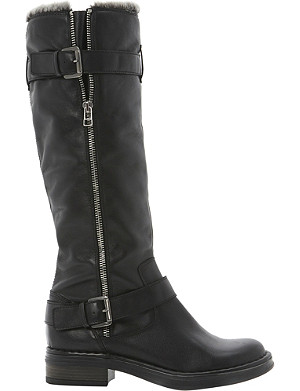 DUNE Tooding faux-fur lined knee-high boots