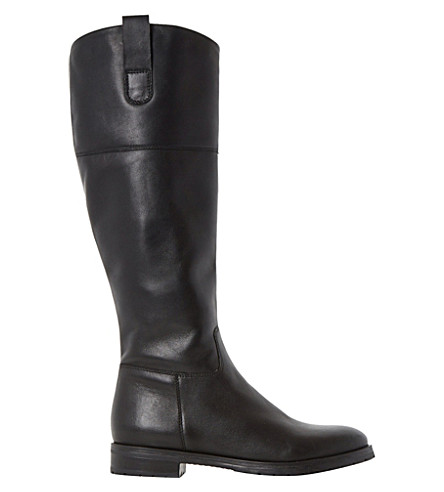 DUNE Timi leather riding boots (Black-leather