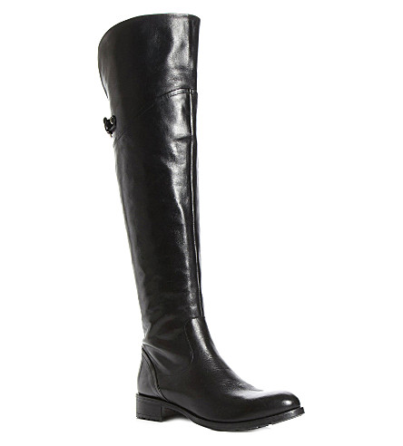 DUNE Totton over-the-knee boots (Black