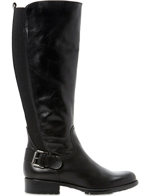DUNE Toffee leather riding boots