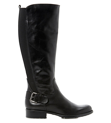 DUNE Toffee leather riding boots (Black-leather