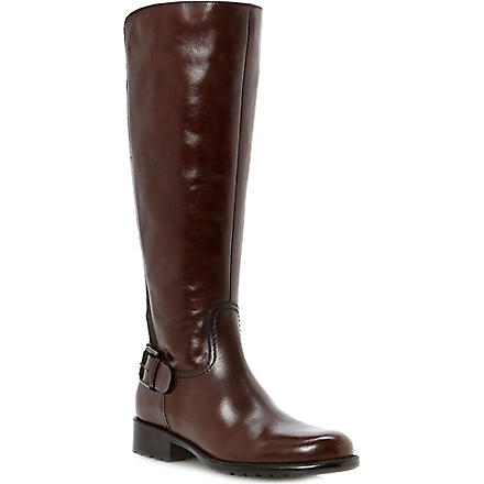 DUNE Toffee leather riding boots (Brown-leather