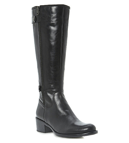 DUNE Teacher leather riding boots (Black-leather
