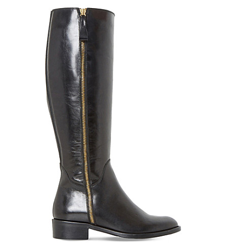 DUNE Tillyy leather riding boots (Black-leather