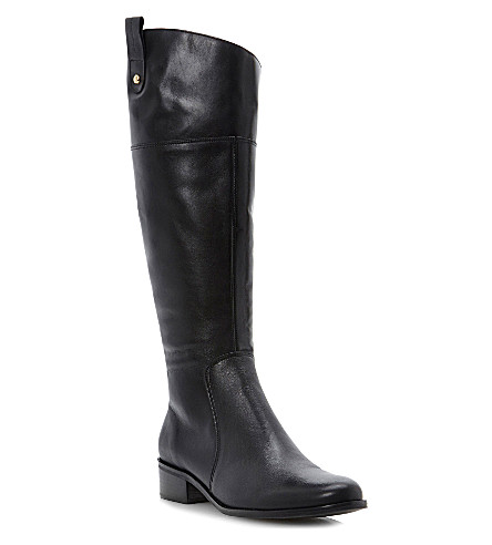 DUNE Troonbridge leather riding boots (Black-leather