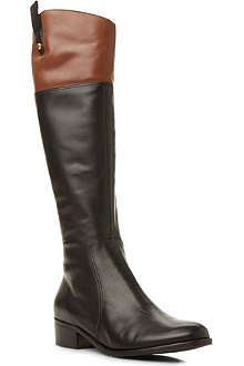DUNE Gigi two-toned leather riding boots