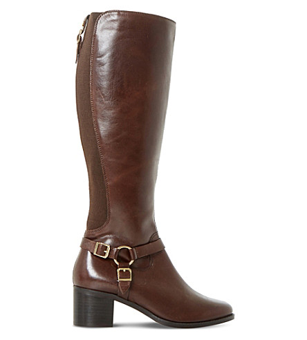 DUNE Vicky leather boots (Brown-leather