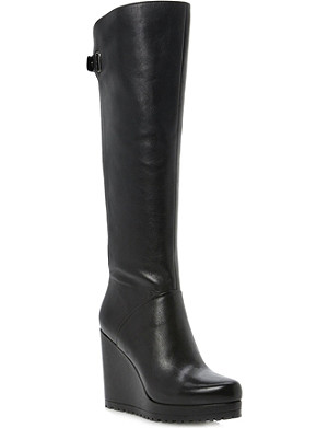 DUNE Tanka knee-high wedge boots