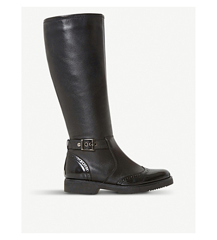 DUNE Venture leather biker boots (Black-leather