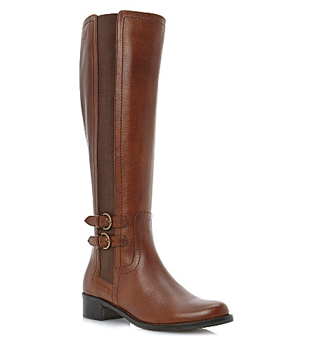 DUNE Timpleton leather riding boots (Tan-leather