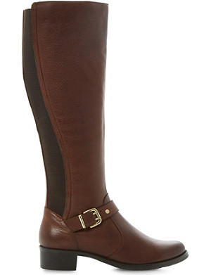 DUNE Tippler leather riding boots