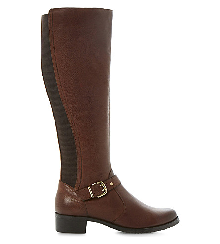 DUNE Tippler leather riding boots (Tan-leather