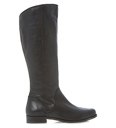 DUNE Talent leather riding boots (Black leather