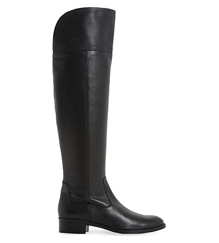 DUNE Taylor leather over-the-knee boot (Black-leather