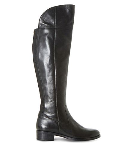 DUNE Teigen leather over-the-knee boots (Black-leather