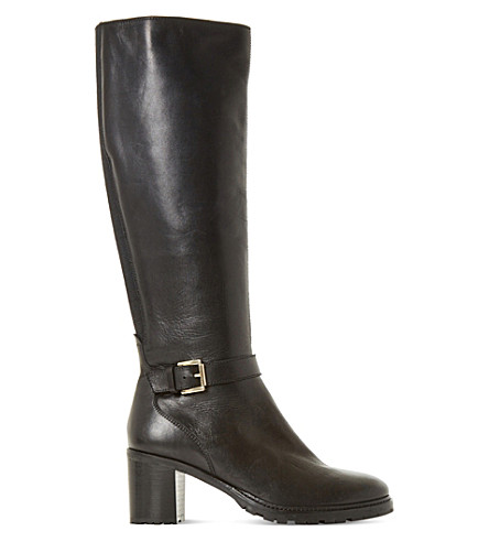 DUNE Tyrell leather boots (Black-leather