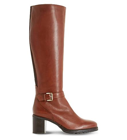 DUNE 泰革皮靴 (棕褐色皮革