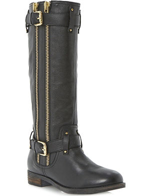 DUNE Traffik leather biker boots