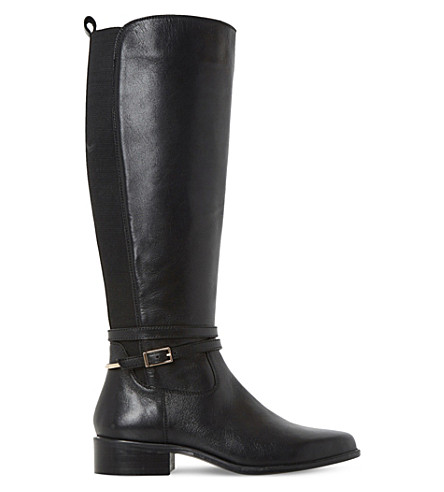 DUNE Taro leather knee-high boots (Black-leather