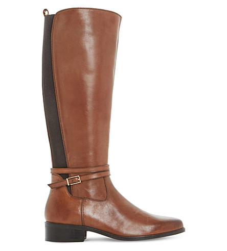 DUNE Taro leather knee-high boots (Brown-leather