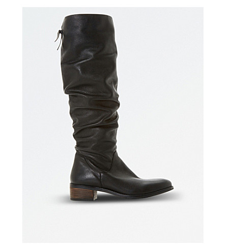 DUNE Pager knee-high boots (Black-leather