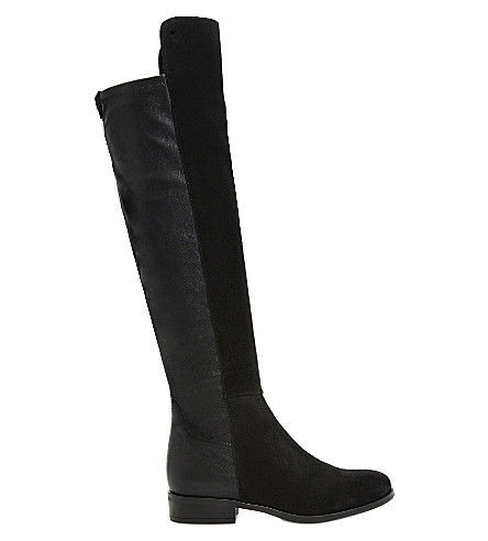DUNE Trish over-the-knee boots (Black-suede