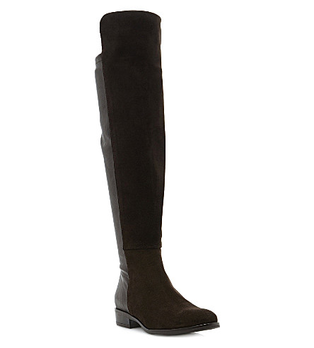 DUNE Trish over-the-knee boots (Brown-suede